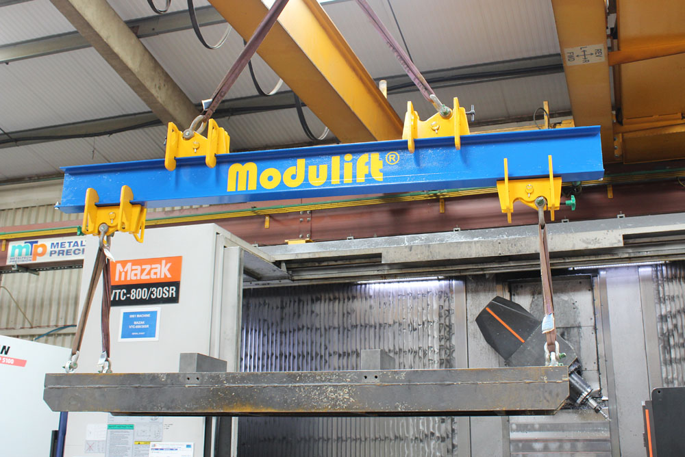 Modulift Adjustable Spreader/Lifting Beam in the workshop