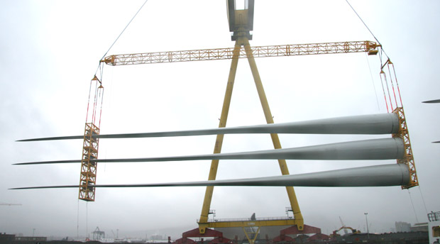 modulift lattice spreader beam lifting wind turbine components