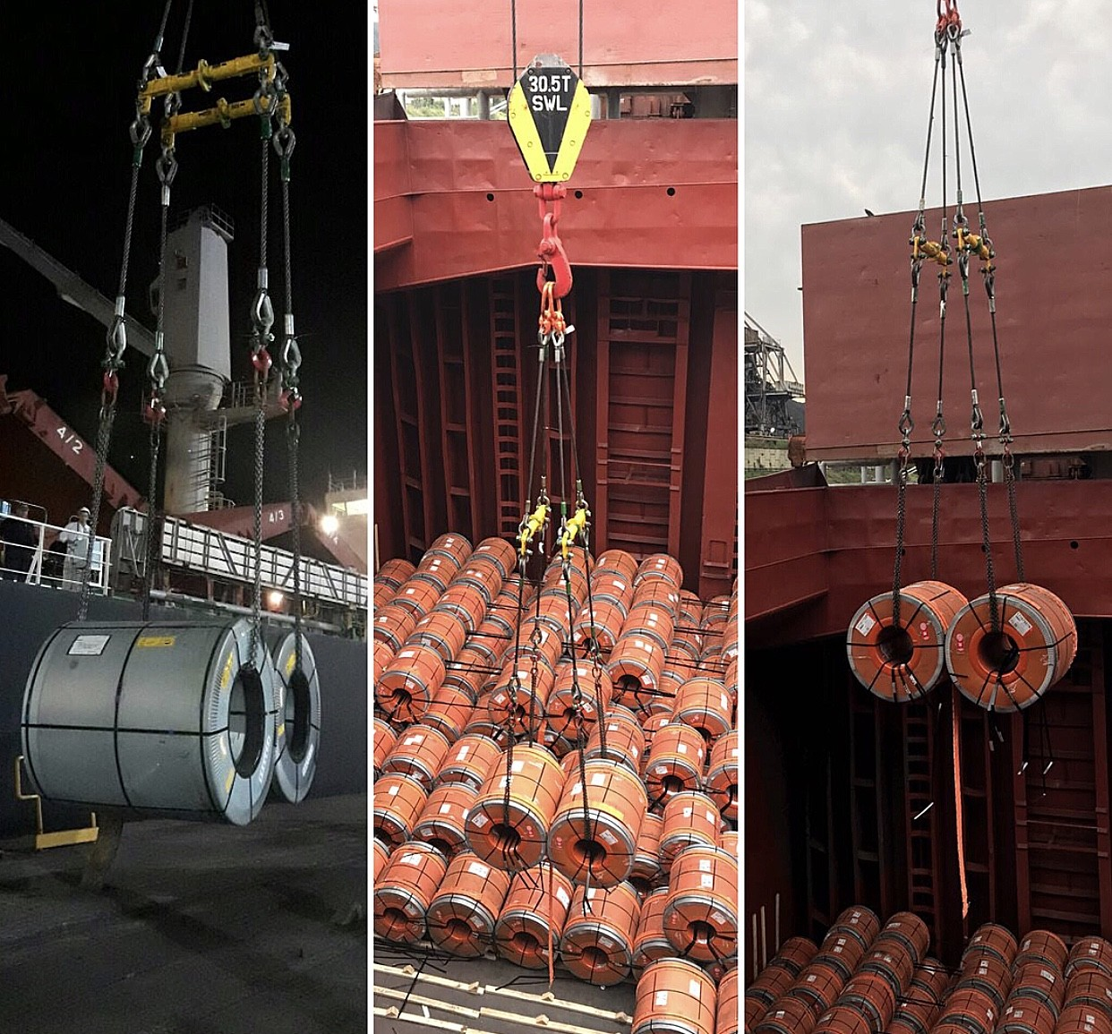 Modulift Beams Lift Steel Coils at Argentine Port