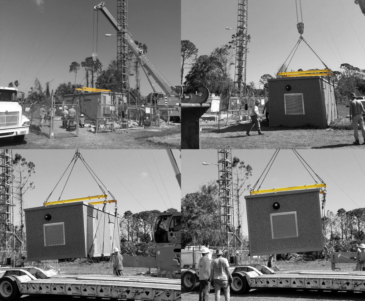Modulift Spreader Beams to Lift 17 90,000-lb. Buildings