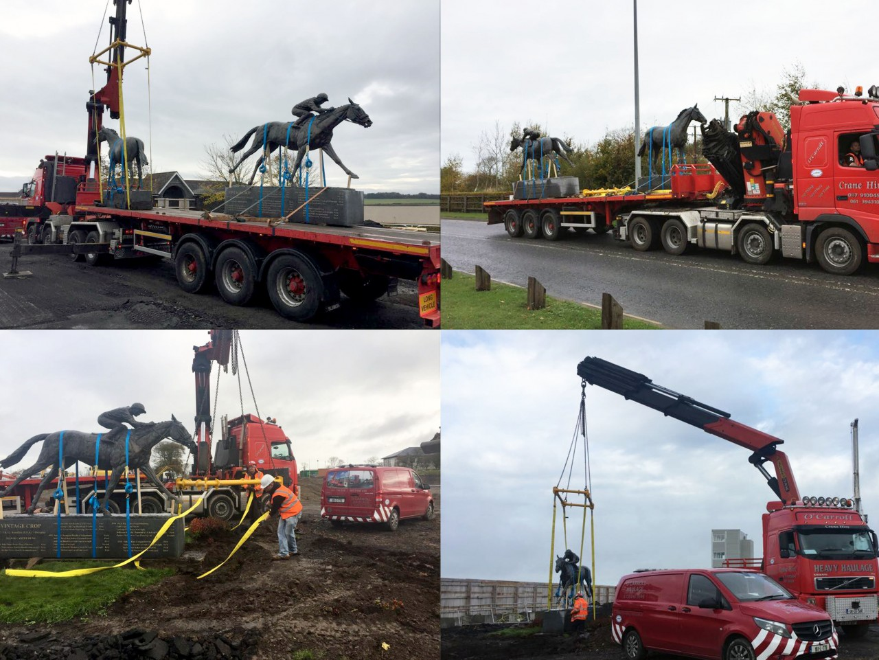 Modulift Spreader Frame Lifts Iconic Horse Statues